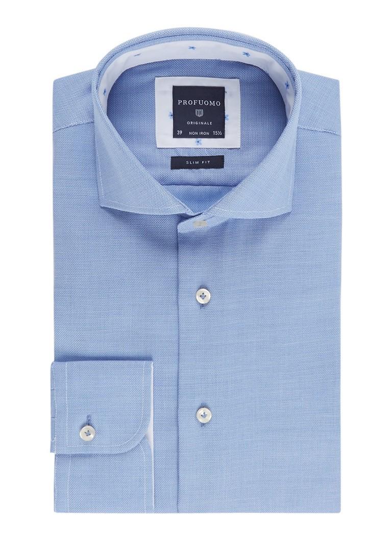 Overhemd Strijkvrij Slim Fit.Profuomo