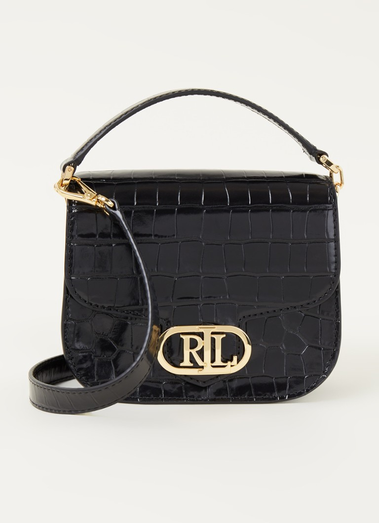 Ralph Lauren - Addie Small crossbodytas van leer - Zwart
