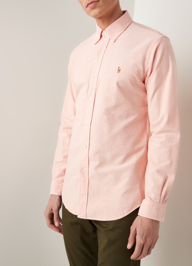 Ralph Lauren - Custom fit button down-overhemd - Oranje