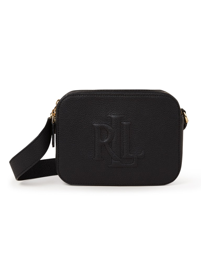 Ralph Lauren - Hayes Medium crossbodytas van leer - Zwart