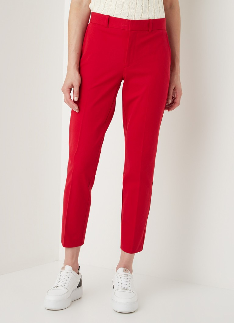 Ralph Lauren - High waist slim fit cropped pantalon - Rood