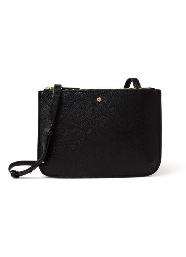 Ralph Lauren - Madison crossbodytas van leer - Zwart