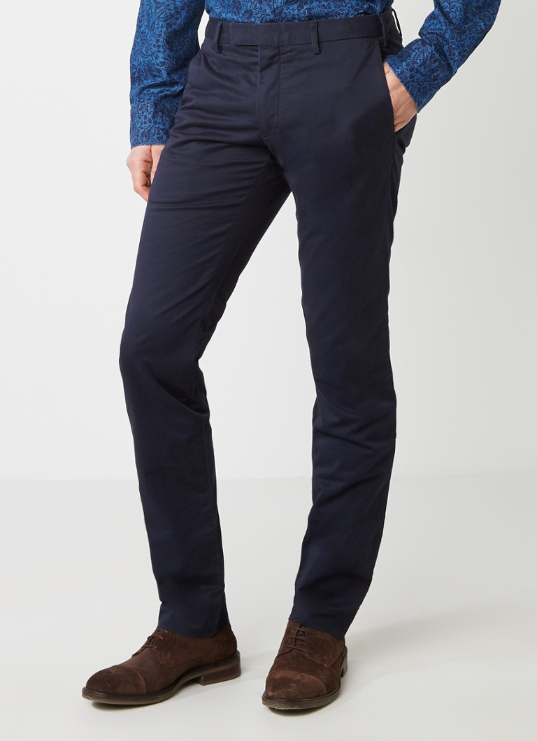 Ralph Lauren - Slim fit chino met stretch - Donkerblauw