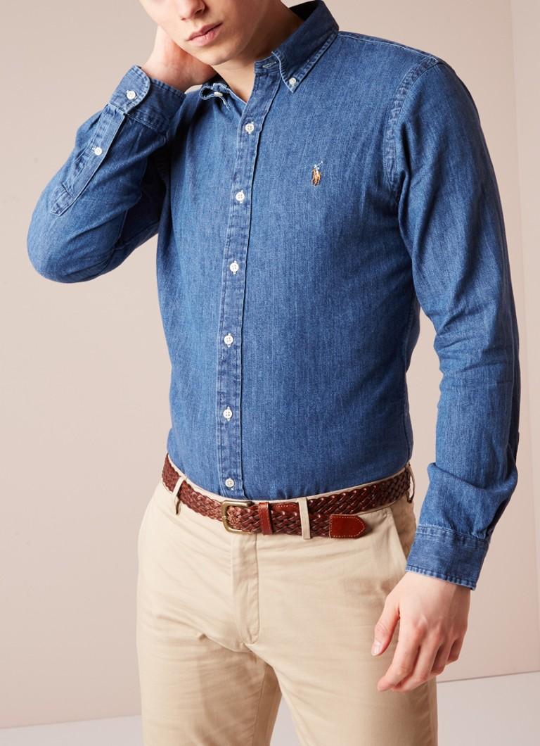 Slim Fit Denim Overhemd.Ralph Lauren Slim Fit Denim Overhemd De Bijenkorf