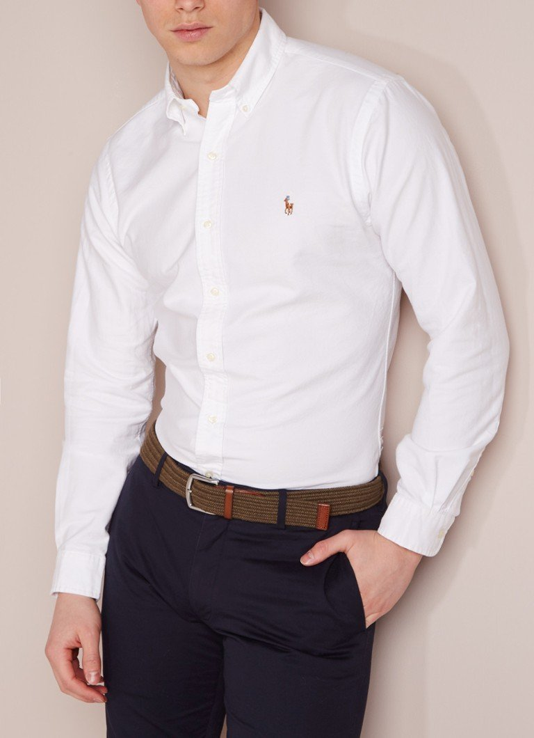 Ralph Lauren - Slim fit overhemd in wit - Wit