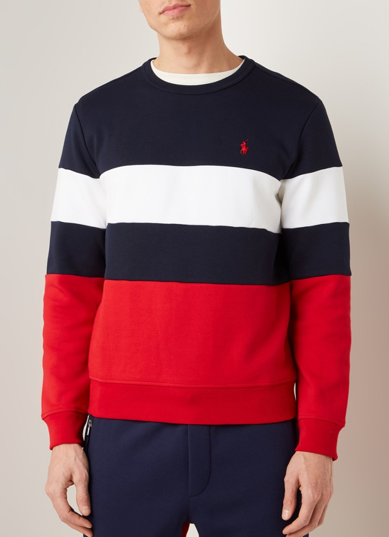 Ralph Lauren - Sweater met colour blocking - Donkerblauw