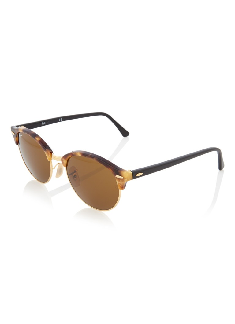 Ray-Ban - Zonnebril Clubround RB4246  - Bruin
