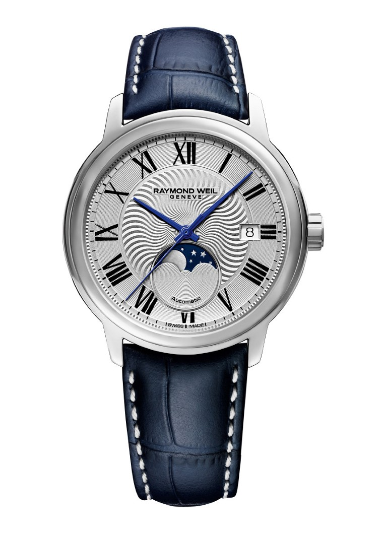 Raymond Weil - Maestro Moonphase 2239-STC-00659 - Zilver