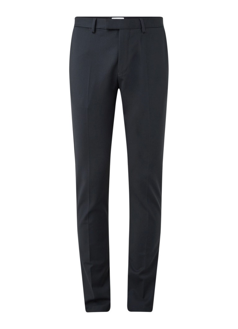 Reiss - Eastbury slim fit pantalon met persplooi - Antraciet