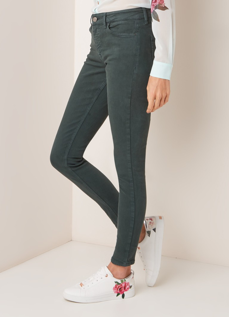 Reiss - Lux mid rise skinny fit jeans  - Donkergroen