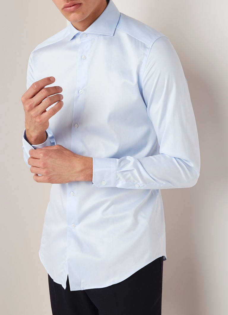 Reiss - Storm slim fit overhemd cut away kraag - Lichtblauw