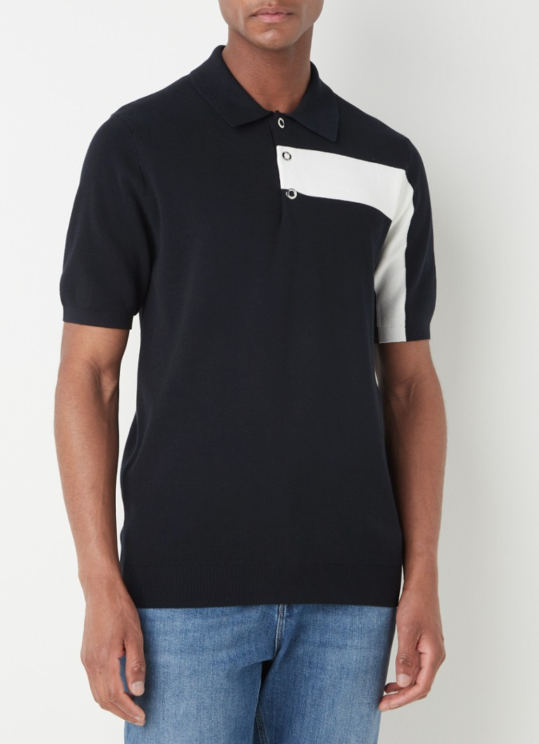 Reiss - Wade regular fit polo met drukknopen - Donkerblauw