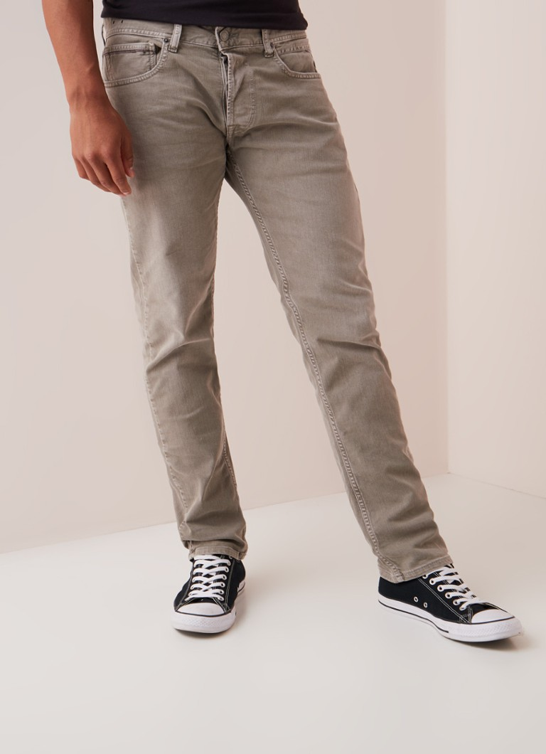 Replay - Grover straight fit jeans met gekleurde wassing - Zand