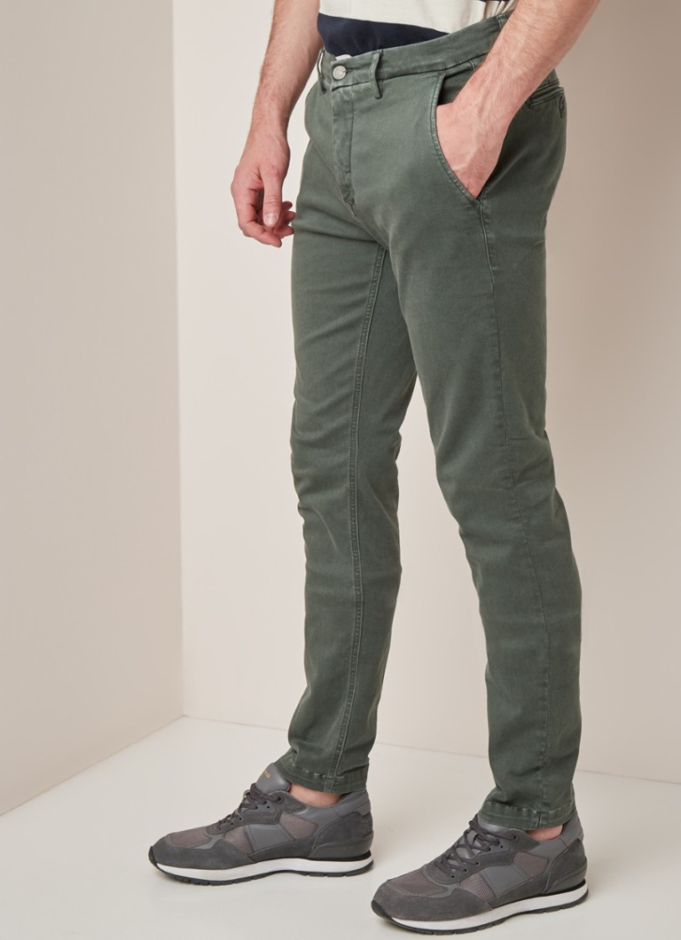 Replay - Zeumar Hyperflex slim fit chino met stretch - Legergroen