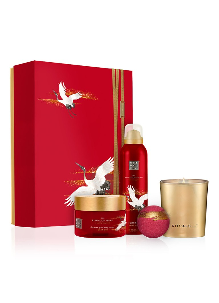 Rituals - The Ritual of Tsuru Gift Set Large - Limited Edition verzorgingsset - Rood