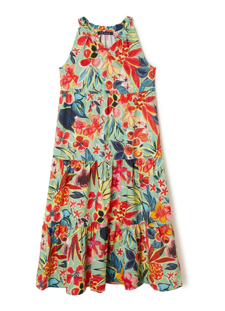 River Woods - Maxi jurk met bloemenprint - Multicolor