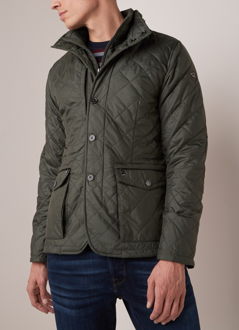 River Woods - Thermore field jacket met verborgen capuchon - Legergroen