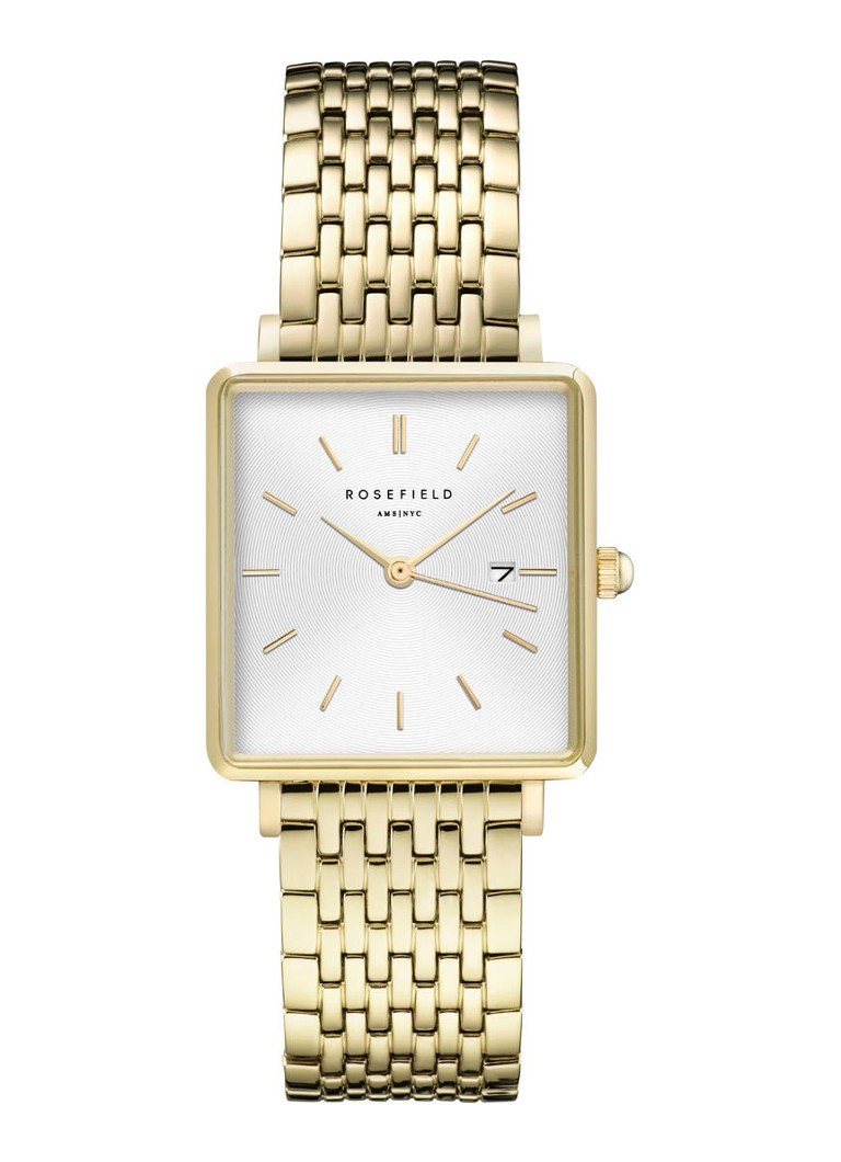 Rosefield - The Boxy horloge QWSG-Q09 - Goud