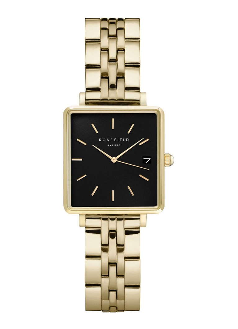 Rosefield - The Mini Boxy horloge QMBG-Q025 - Goud