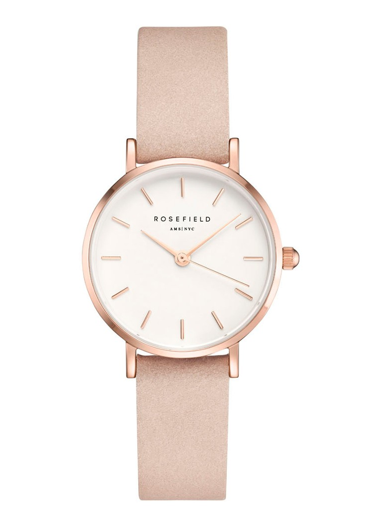 Rosefield - The Small Edit horloge 26WPR-263 - Roségoud