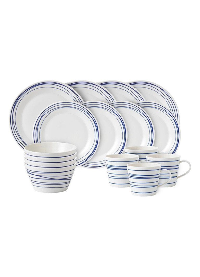 Royal Doulton - Pacific Lines serviesset 16-delig - Gebroken wit