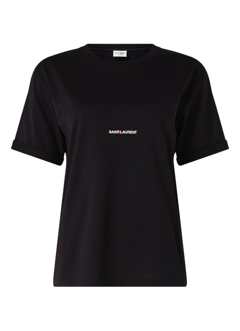 Saint Laurent - Retro T-shirt met logoprint - Zwart