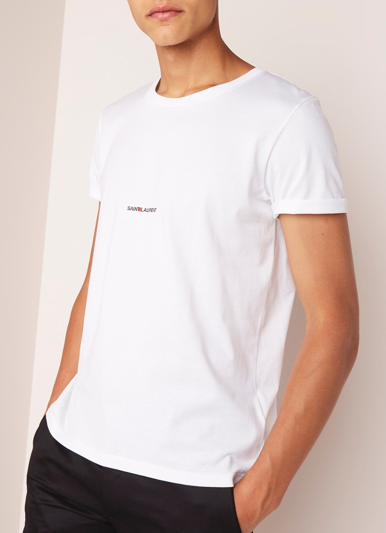 Saint Laurent - T-shirt met logoprint - Wit