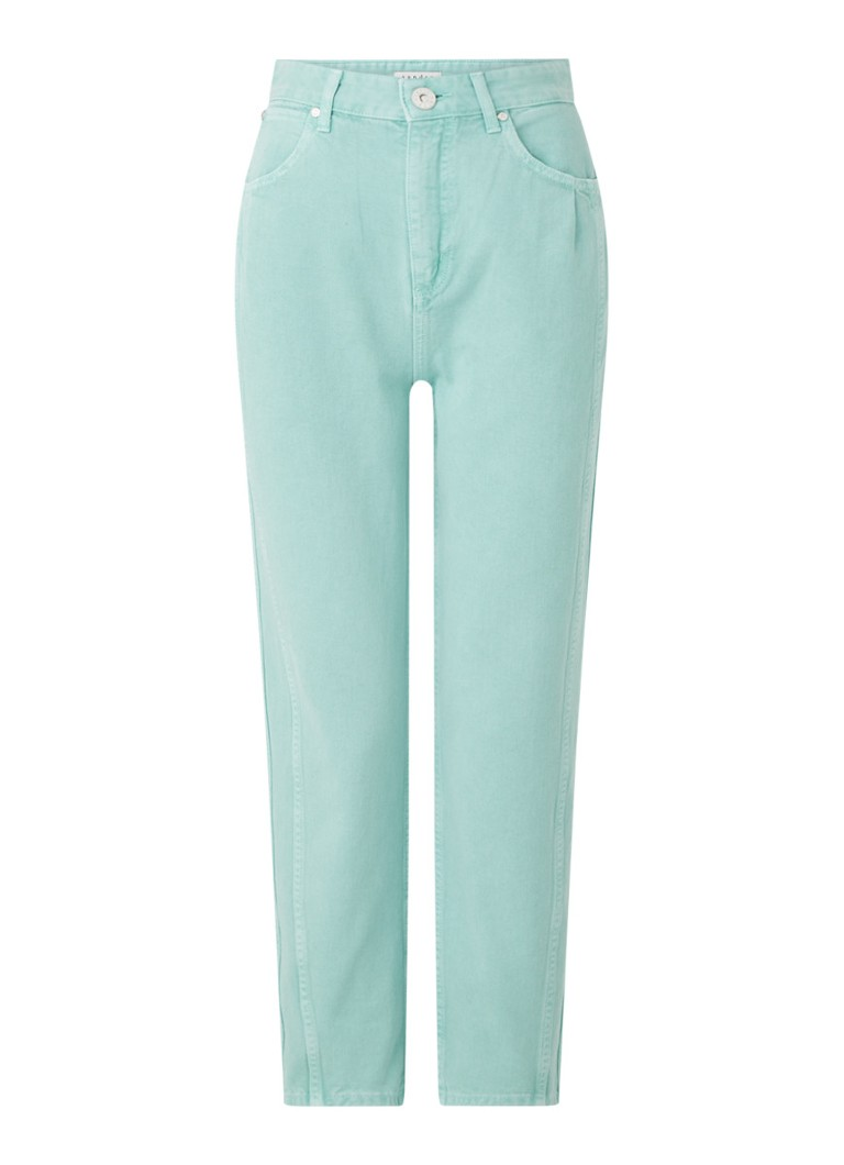 Sandro - High waist tapered fit cropped jeans - Mint