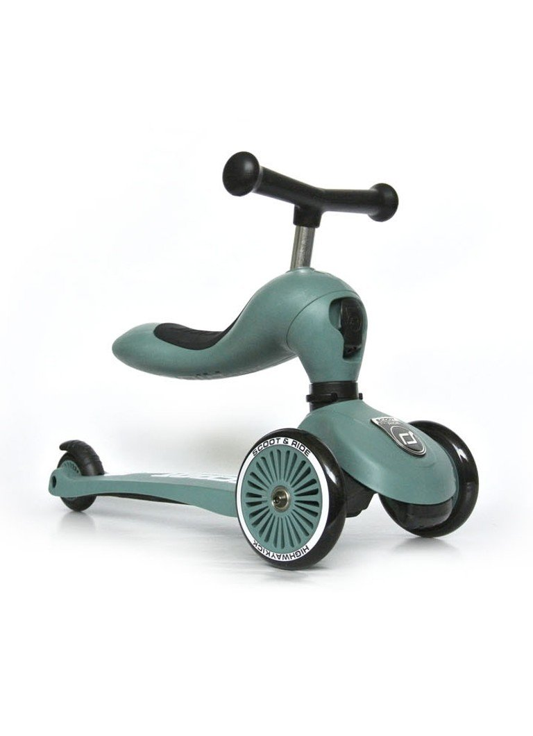 Scoot and Ride - Highwaykick 1 loopfiets en step - Groen
