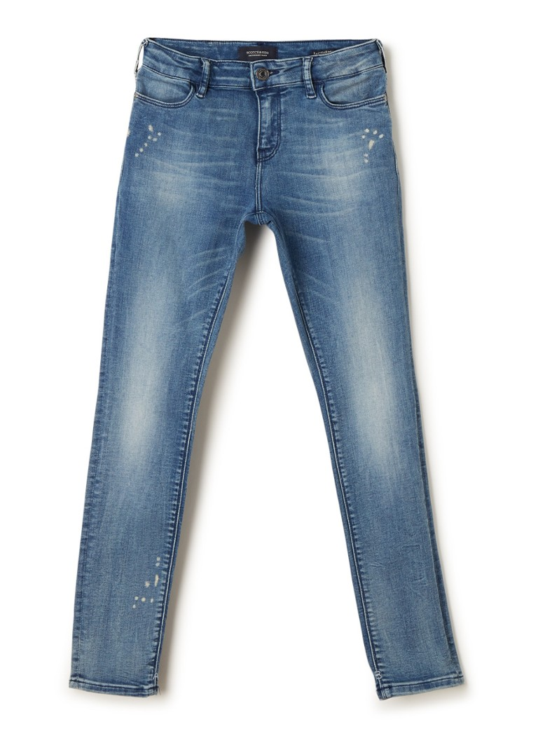 Scotch & Soda - High rise skinny jeans met ripped details - Indigo