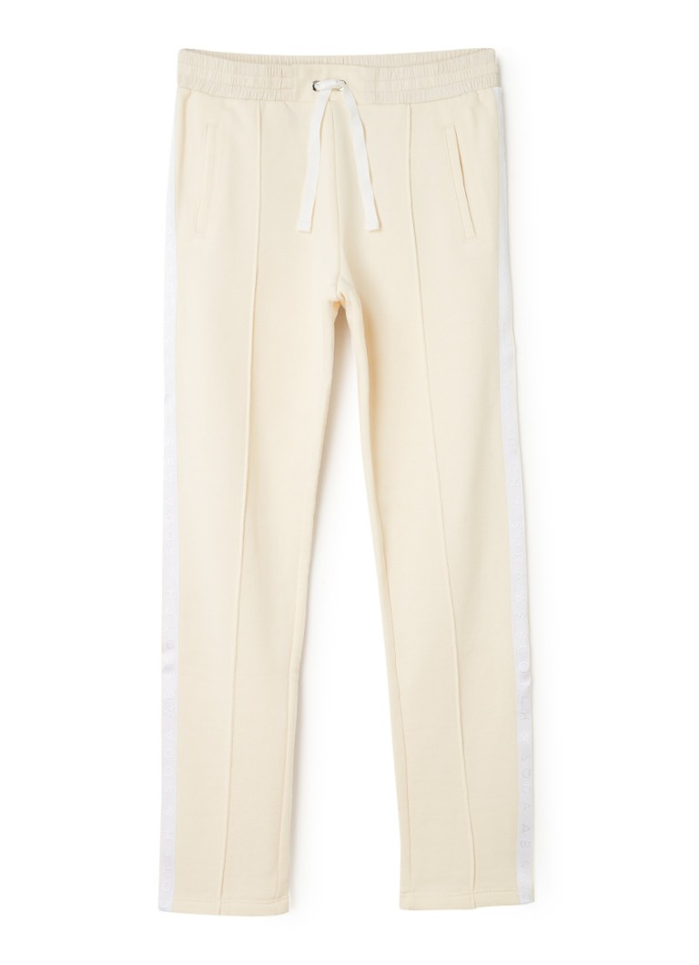 Scotch & Soda - Club Nomade straight fit track pants met logobies - Creme