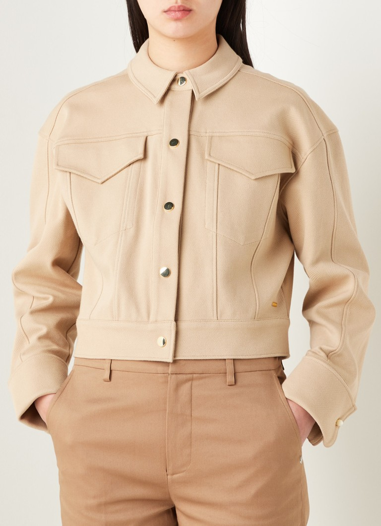 Scotch & Soda - Cropped jack met klepzakken - Beige