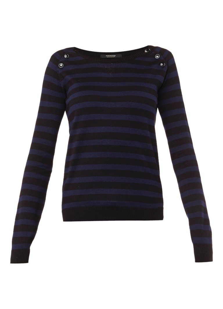 Scotch&Soda Gestreepte pullover met knoopdetails