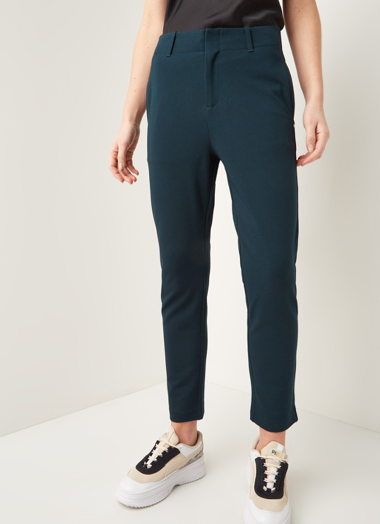 Scotch & Soda - High waist straight fit jogger met stretch - Donkergroen