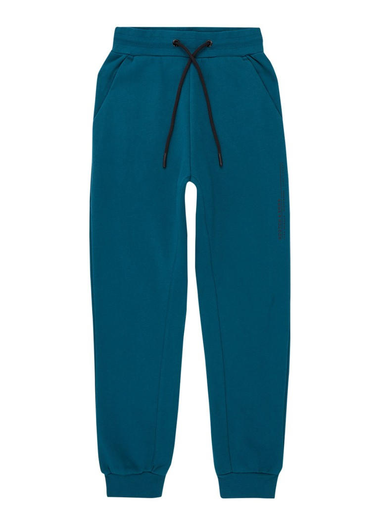 Scotch & Soda - Joggingbroek met logo - Zeegroen