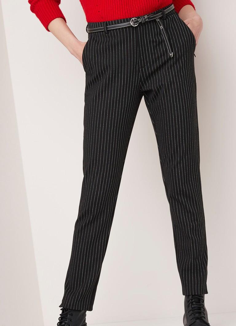 Beste Scotch & Soda Mid waist tapered fit pantalon met krijtstreep en SM-38