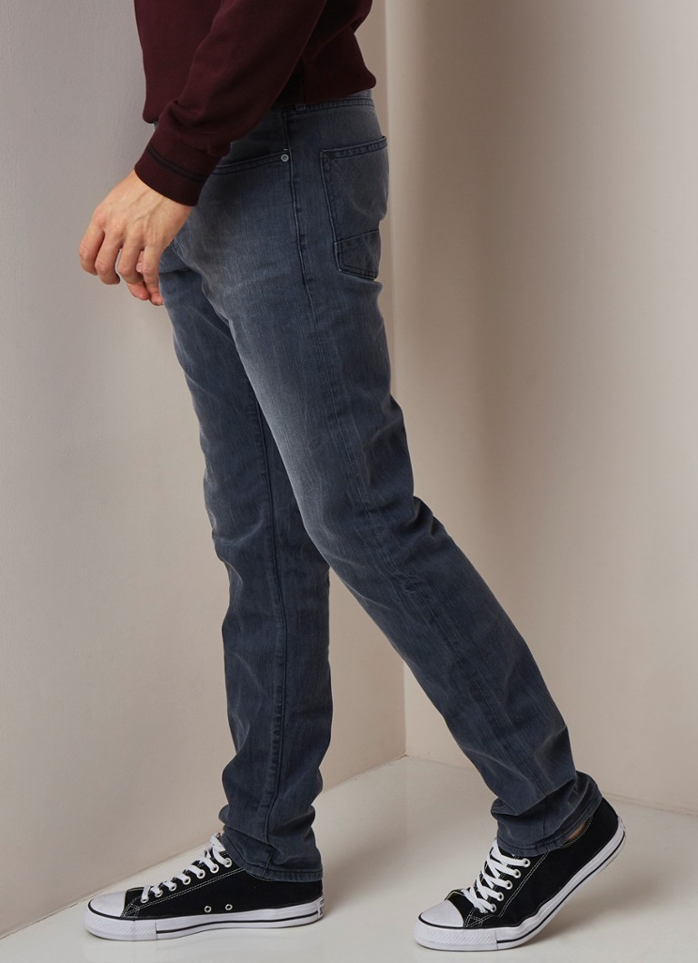 Scotch & Soda - Ralston slim fit jeans met verwassen look - Grijs