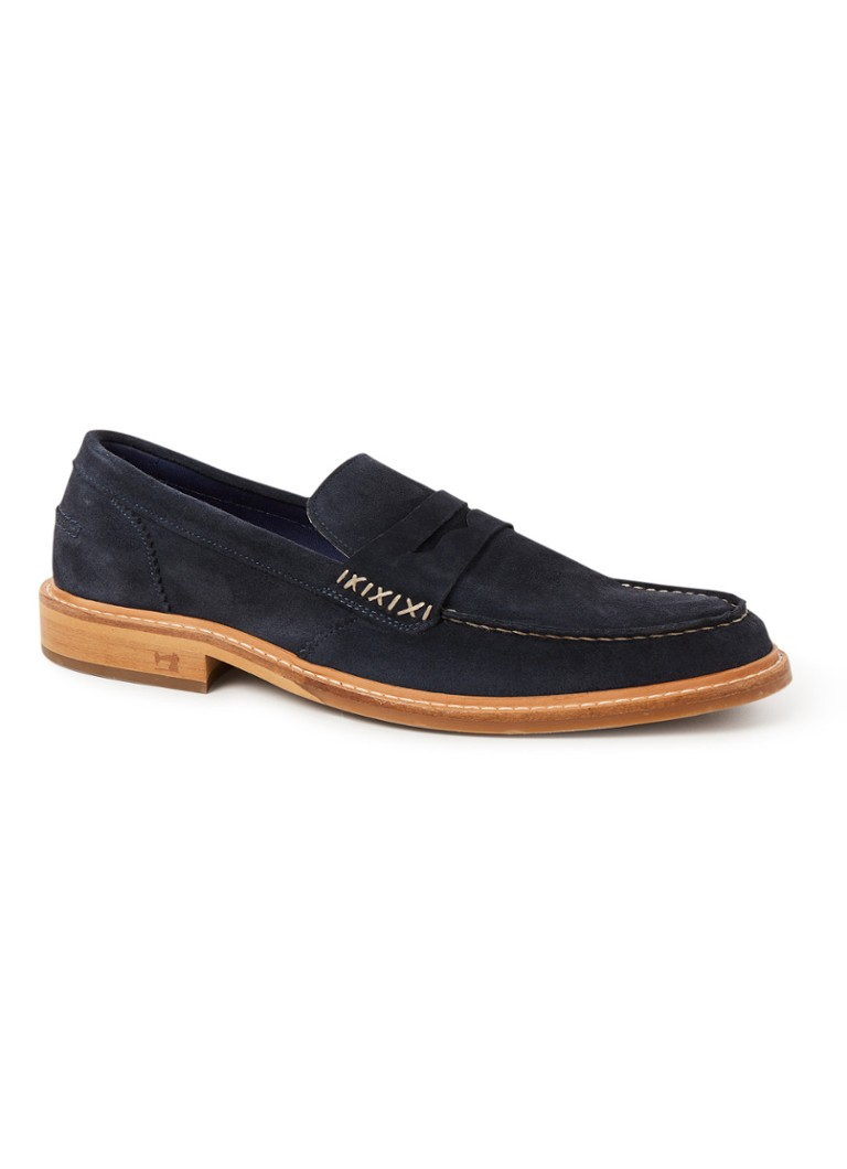 Scotch & Soda - Spinel loafer van suède - Donkerblauw