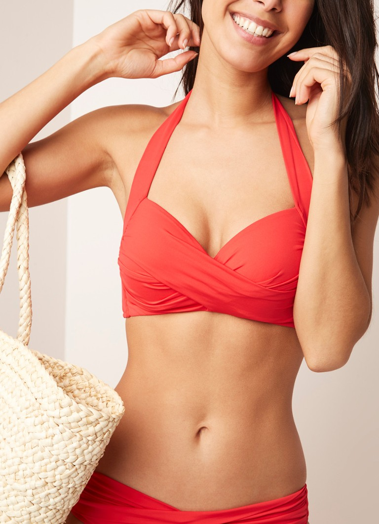 Seafolly - Halter push-up bikinitop - Rood