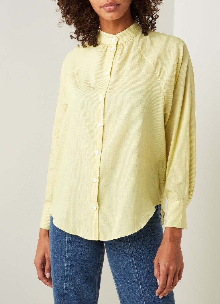 Second Female - Petra blouse met streepprint - Lime