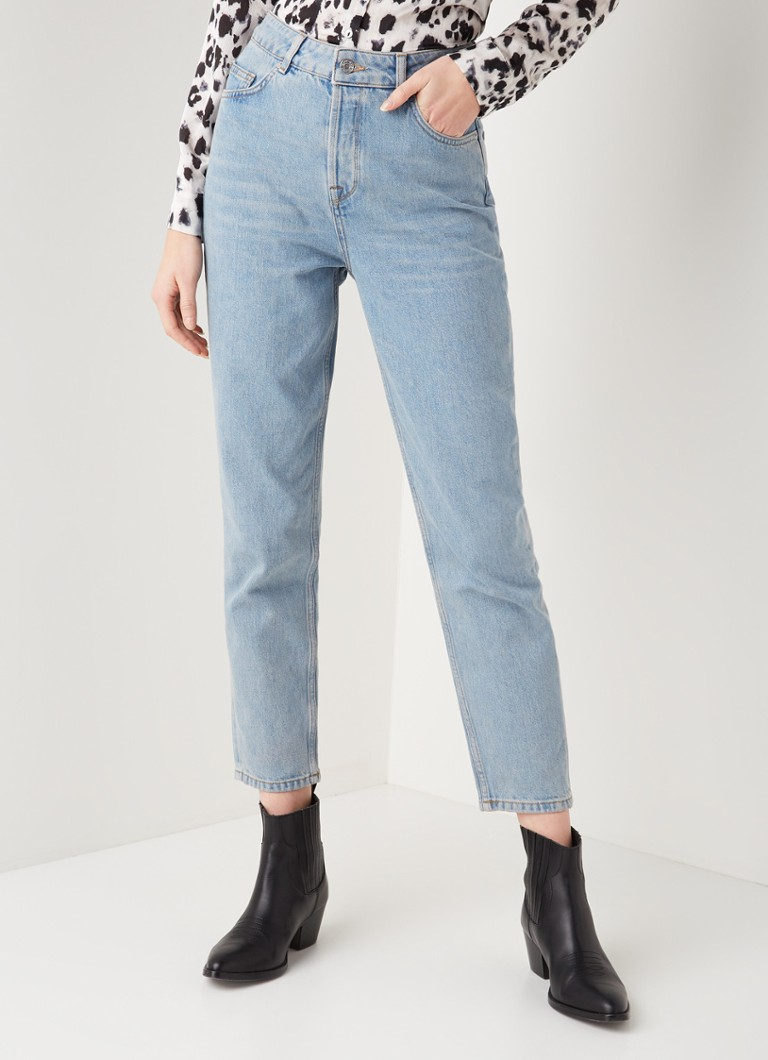 Selected Femme - Frida mom fit jeans met lichte wassing - Jeans