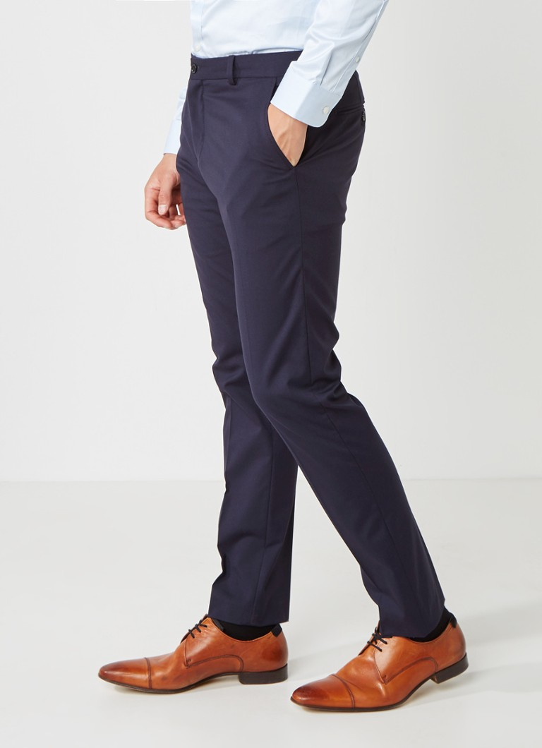 Selected Homme - Mylo Logan slim fit pantalon - Donkerblauw