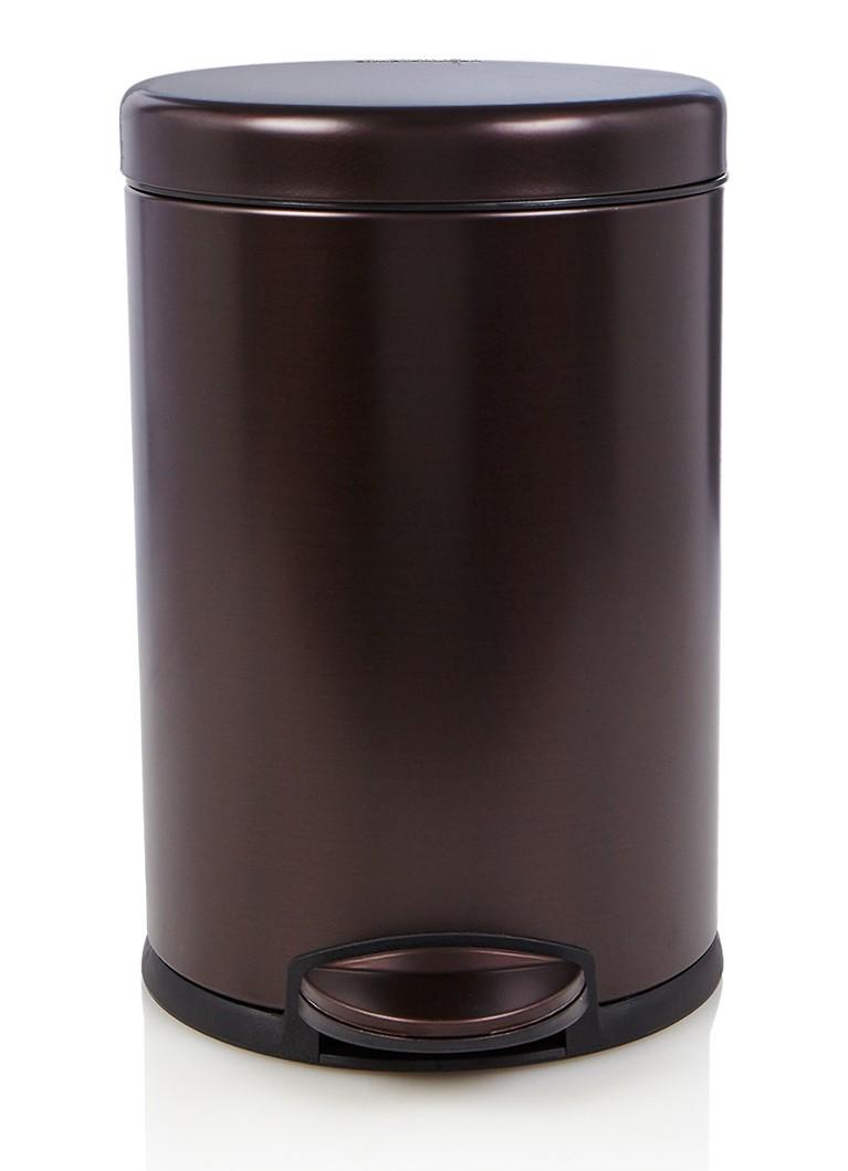simplehuman pedaalemmer 4 5 liter de bijenkorf. Black Bedroom Furniture Sets. Home Design Ideas
