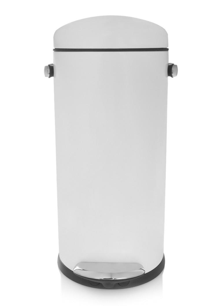 Pedaalemmer 30 Liter.Simplehuman Pedaalemmer Retro Round Step Can 30 Liter De Bijenkorf