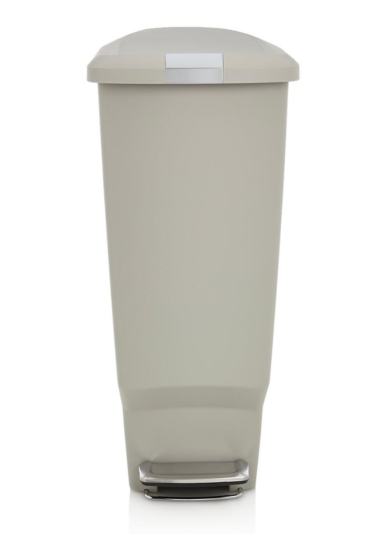 simplehuman slim pedaalemmer 40 liter de bijenkorf. Black Bedroom Furniture Sets. Home Design Ideas