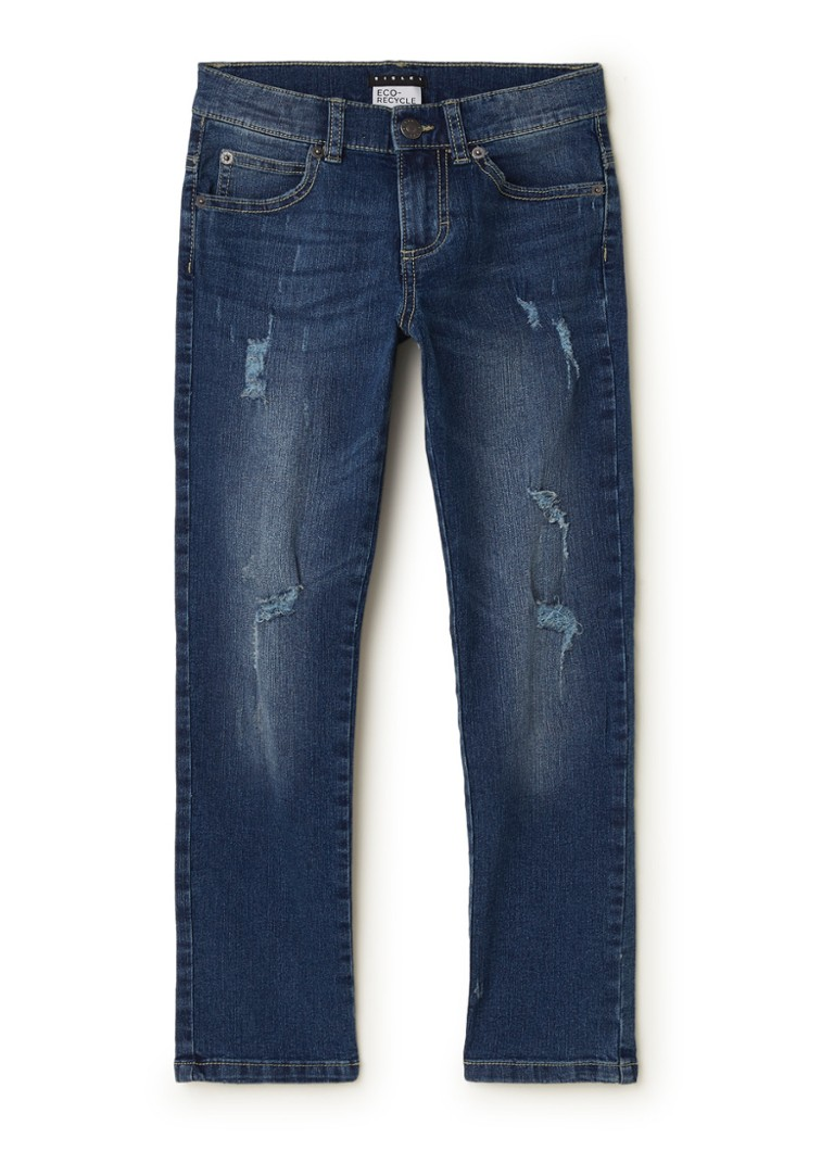 Sisley Young - Slim fit jeans met ripped details - Indigo