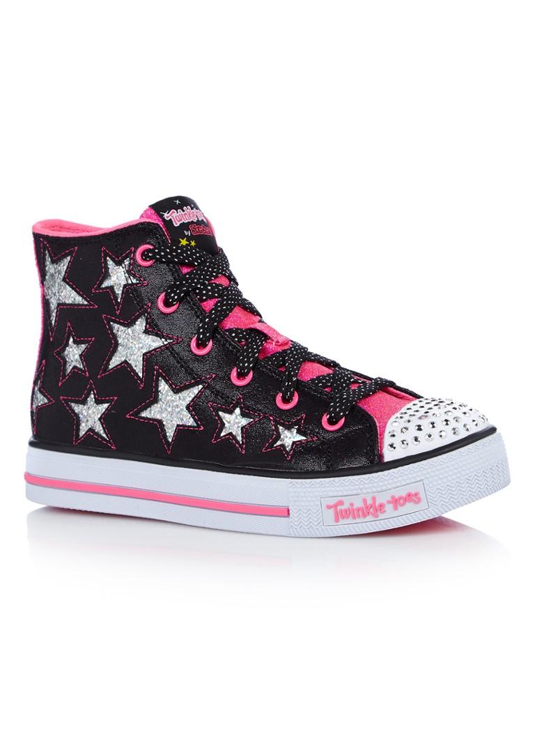 d7d3edbf710 Skechers Rockin Star sneaker met glitter details en lichtjes • de ...