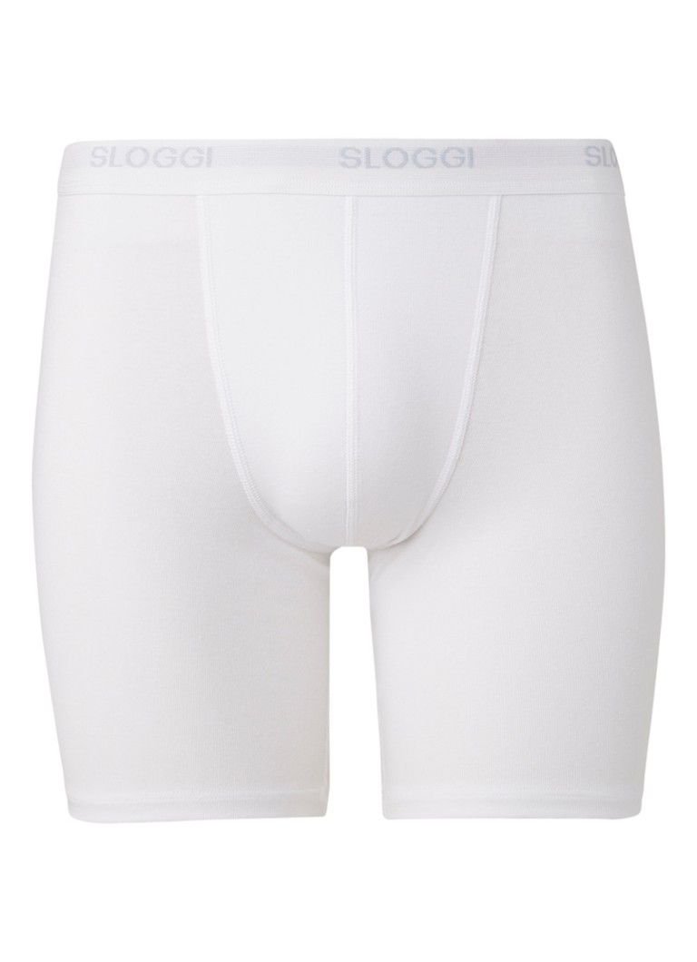 Sloggi - Basic Long boxershort - Wit