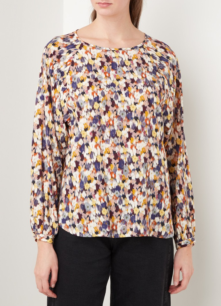 Smith & Soul - Top met bloemenprint - Creme