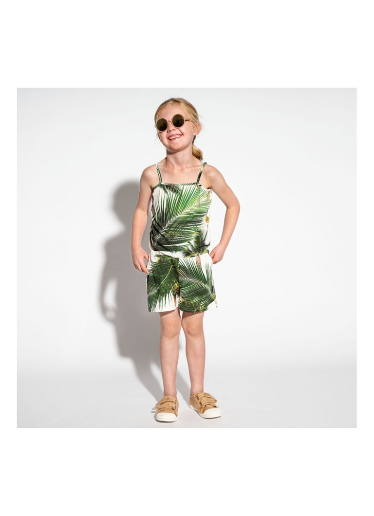 Snurk - Palm Beach playsuit met print - Groen